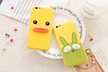 Wholesale 3D Animals Phone Case Full Cover Silicone Dust Plug Case for iPhone 4.7 5.5 inch