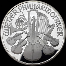 2015 hot sale of custom Austrian One Ounce Philharmoniker Silver Coin With Copy