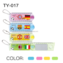 20cm Folding Magnifier Ruler Foldable Plastic Ruler Multifunction Ruler With a Mirror