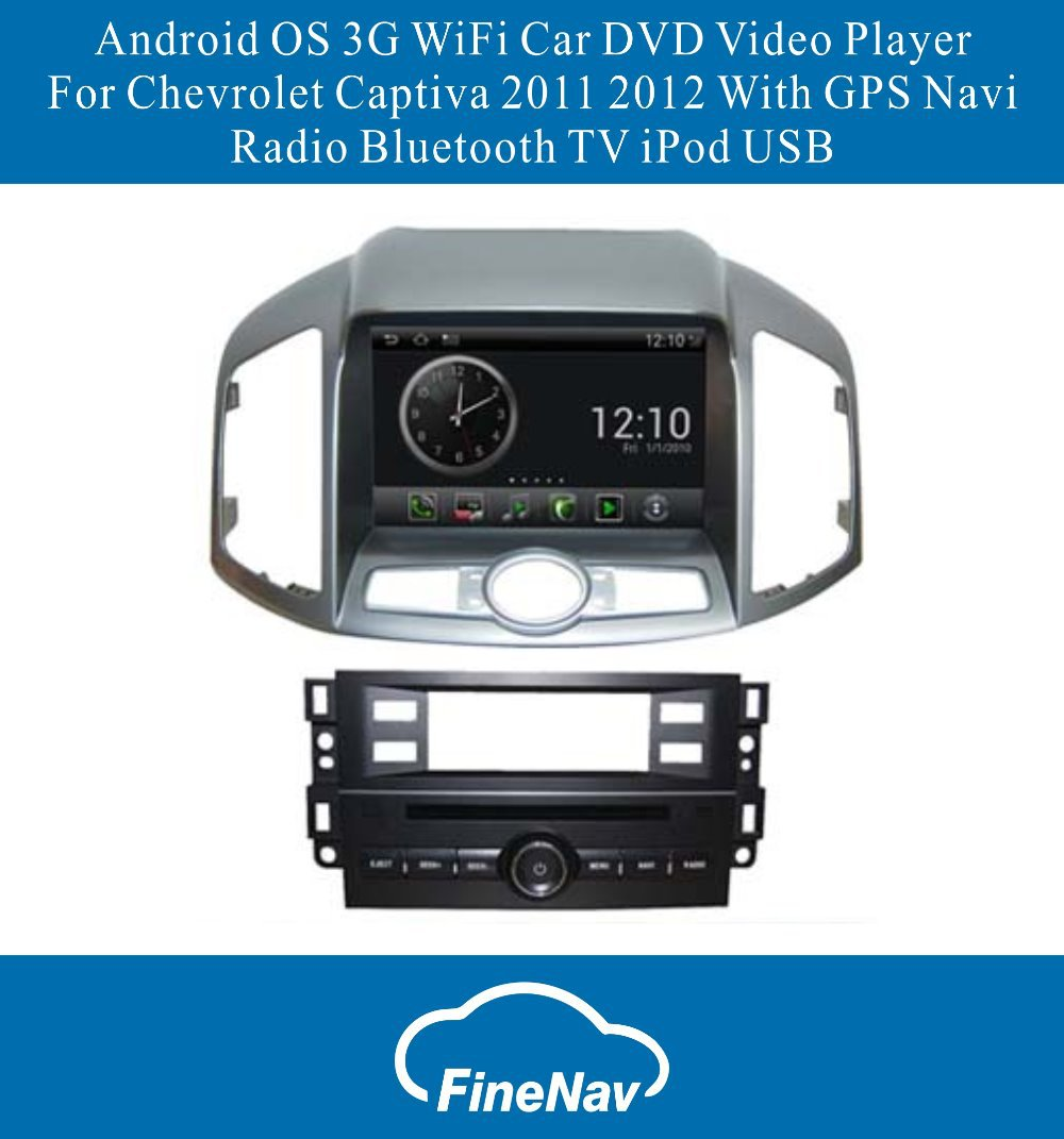 Android OS S150 3G WiFi Car DVD Video Player For Chevrolet Captiva 2011 2012 With GPS Navi Radio Bluetooth TV iPod USB