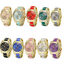 Multicolor surface watches geneva the most popular geneva watch plastic band