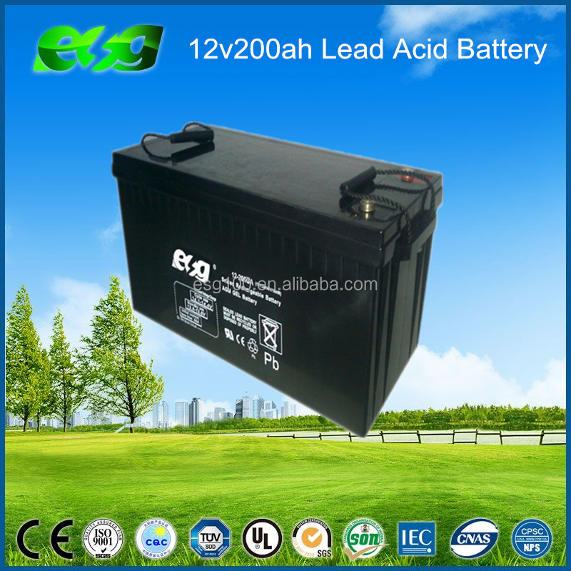 12v200ah sealed lead acid full gel batteries for off grid solar home systems and highway road led lighting