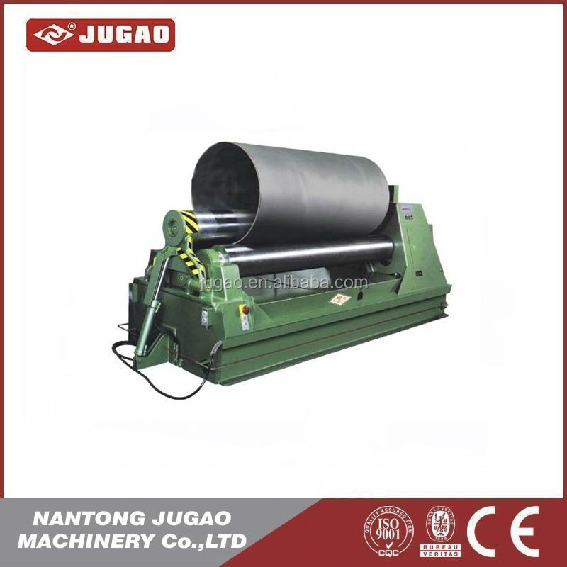 sheet metal <strong>W11S</strong> 3 roller rolling machine three rollers plate bending machine with oversea service from Nantong