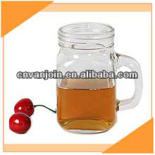 12 oz Glass Mason Jar With Handle