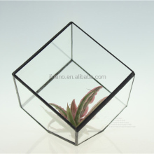 DIY decor accessories bevel square glass greenhouse indoor plant glass terrarium