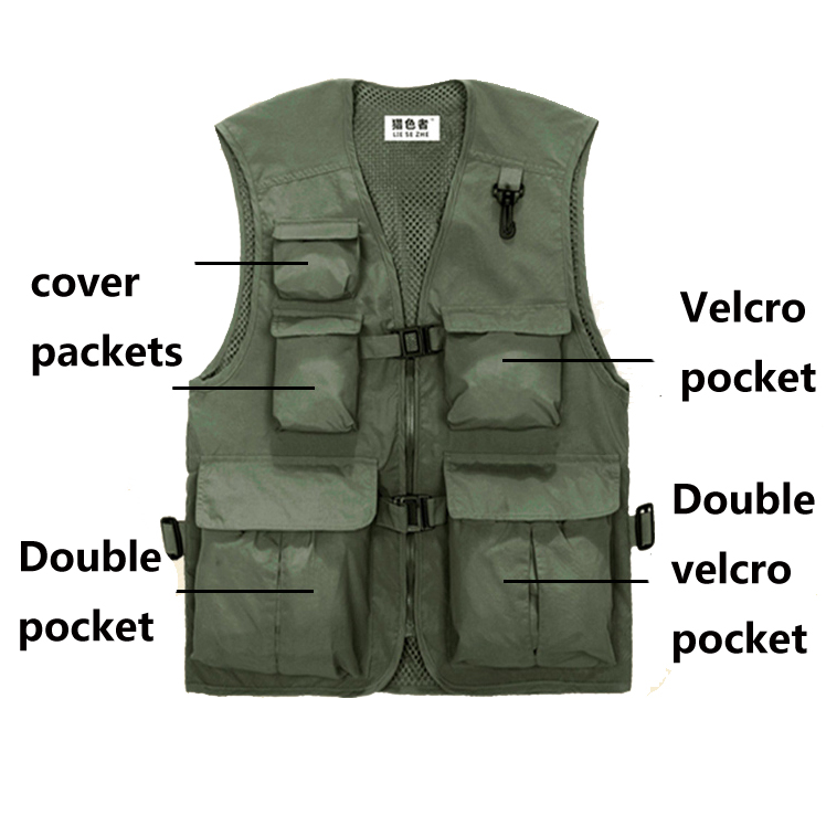 stock item fashion man vest best price high quality camera vest