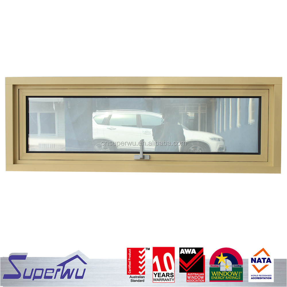 AS2047 aluminum frame double glazed awnings window with Germany hardeware