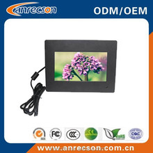 7 inch industrial LCD Monitor with AV BNC input touch panel PC