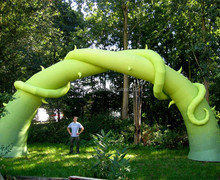 Hot sale inflatable plant arch, green balloon arch for advertising