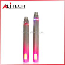top selling Colorful variable voltage ego Twist ego-vv battery e-cigarette paypal accepted 650mAh 900mAh 1300mAh