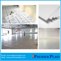 Recycle and reusable polypropylene material floor coroflute sheets