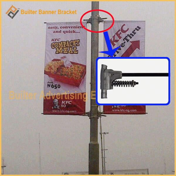 lamppost banner banner holder