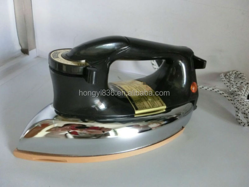 National Electric Iron ~ Golden soleplate national automatic electric iron dry