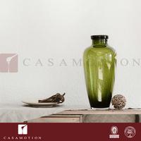 Casamotion Vintage Hand Blown Geometric Art Deco Vase