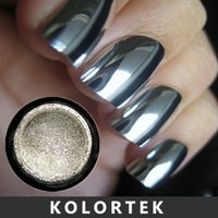 Mirror effect pigment silver chrome powder Nail, Chrome Pigment Powder Factory