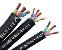hot selling pvc 3*6mm pump cable 650/1100V electric submersible cable flat 3*6mm2 submersible cable