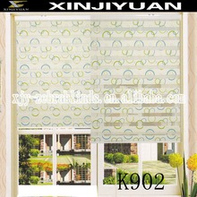 Printing zebra blind fabric window curtain blinds for interior decoration circle Rural style curtain simple style