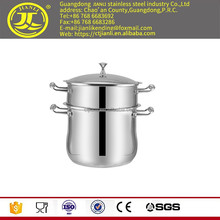 Useful kitchen pot cooking utensils hot pot with laser polish two layer jakarta cookware