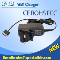 2015 Hot Model 15V 1.2A 18W Wall charger For ASUS Transformer Pad TF300T TF700T TF201