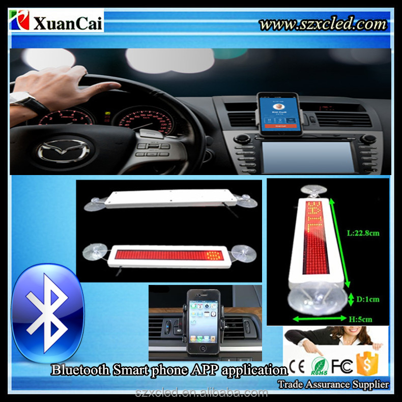 New! Bluetooth Smart phone app. programming+USB PC + Remote control Mini suction cups window car signs