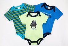 2017 Factory Cheap High Quality Baby Clothes Newborn Infant O-neck Short Sleeve Colorful Baby Snap Crotch Bodysuit