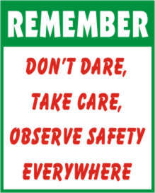 safety stickers:Safety Slogan