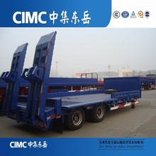 CIMC Special Low Bed Semi Trailer with Extension on Each Side