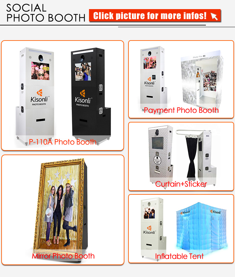 Portable Luggage Design Photo booth Enclosure/Photo booth Shell With 19/22'' LCD Touch Screen