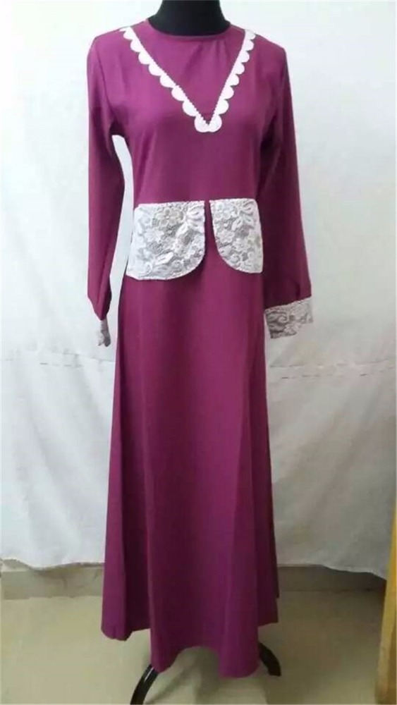 Hot-sale abaya embroidery designs top quality popular muslim dress