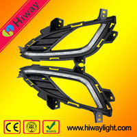 Professional plant production high quality led drl fog light for Hyundai Elantra 2013-2015 auto tuning light