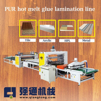 PUR Hot Melt Glue Laminating Machine for MDF Board / PVC/ Acrylic lamination machine