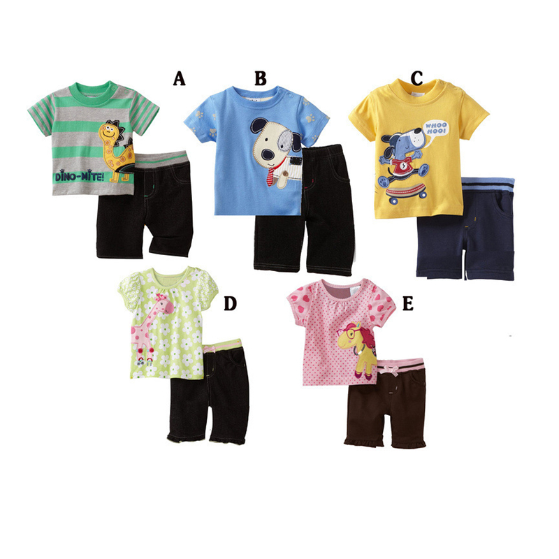 Animal pattern childrens clothing sets cheap branded family reunion t shirt designs