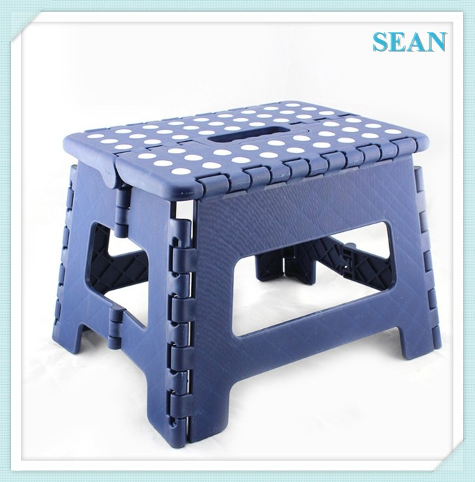 Custom Logo plastic kitchen step stool chair with non-slip mat ningbo sean