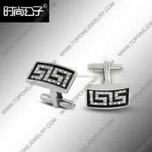Fashion jewelry wholesale new barrel silk knot cufflink for men