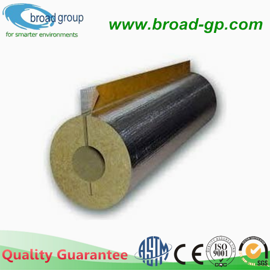 Sound Absorption Rock Wool Pipe Vacuum Insulation With CE