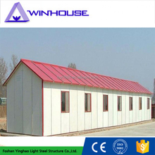 Hot sale home depot prefab homes modern prefab building two slope roof house