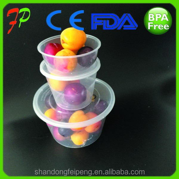 Freeze Deli used pp plastic Food and fruit Containers Box