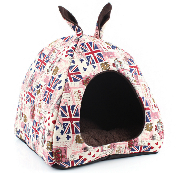 Stylish Soft Pet Beds Cave Dog Beds for Small Dogs