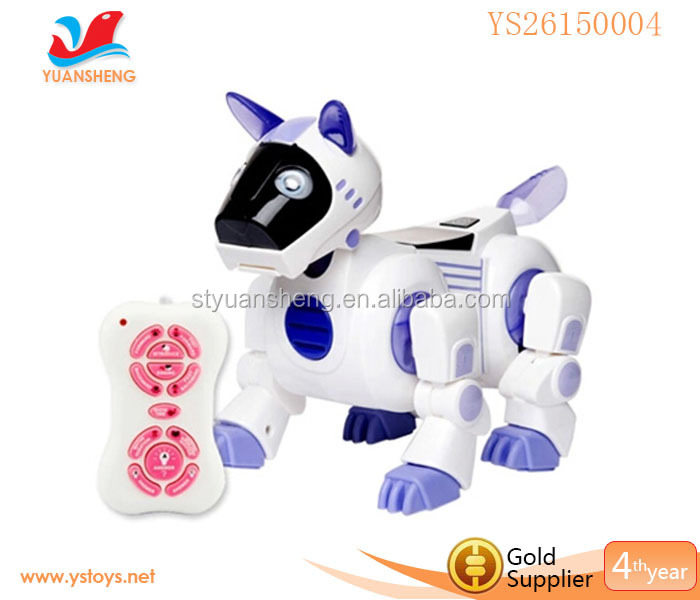 Newest RC electronic robot toy dog IQ testing education toy