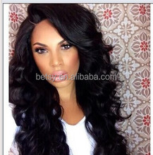2015 New 7A natural looking body wave/straight lace front wig brazilian human hair wig
