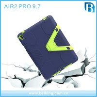 Rugged Kickstand geometry PC TPU Tablet Cover Case For ipad air 2 pro 9.7 inch cases