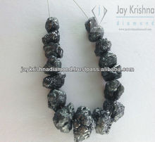 raw uncut black diamond for designer jewelry chain