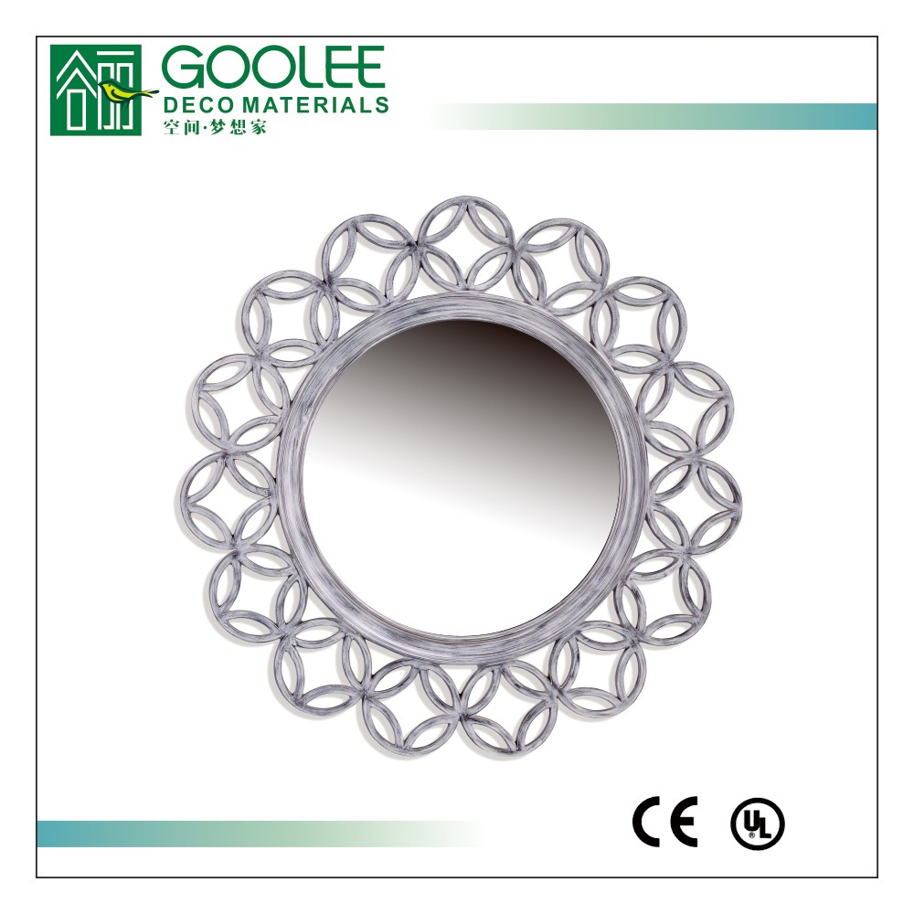 Goolee PU framed sunflower decorative smart mirror