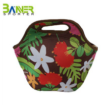 Custom wholesale neoprene lunch tote pouch insulated cooler bag portable lightweight