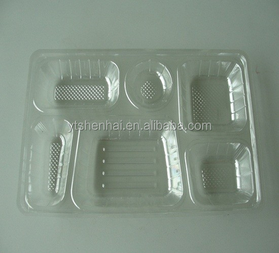 Disposable Takeaway Plastic Container Fruit Packaging Trays