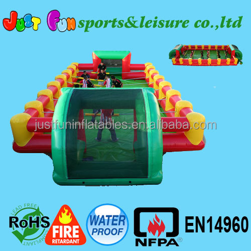 commercial inflatable football game, inflatable human table football,inflatable table soccer