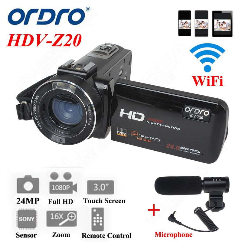 "Ordro Z20 3.0"" Touch LCD 24MP 16X Zoom Camcorder <strong>A02</strong> Digital Video Cam"