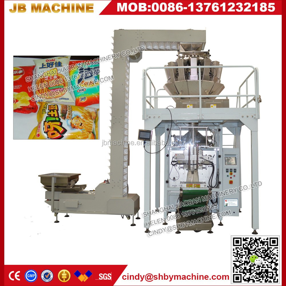 Low price automatic weighing packaging system composes of vibrating feeder and Z type lifter