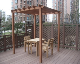 2016 Hot Sales Waterproof WPC Outdoor Pergola