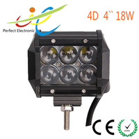 IP67 18w 4D lens Dual row Mini led light bar for Jeep 4x4 offroad